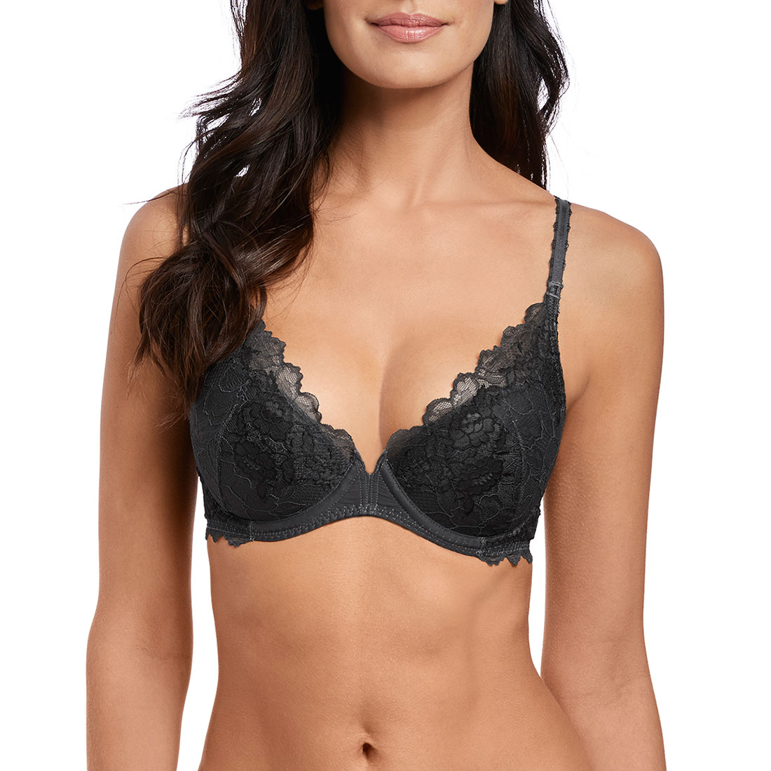 Lace Perfection Plunge Push Up Bra