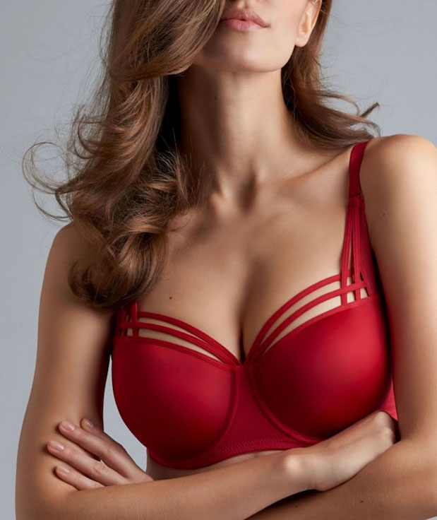 Dame de Paris Balcony Bra Red