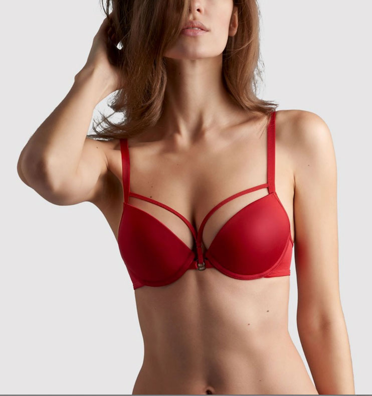 Space Odyssey Push Up Bra Red